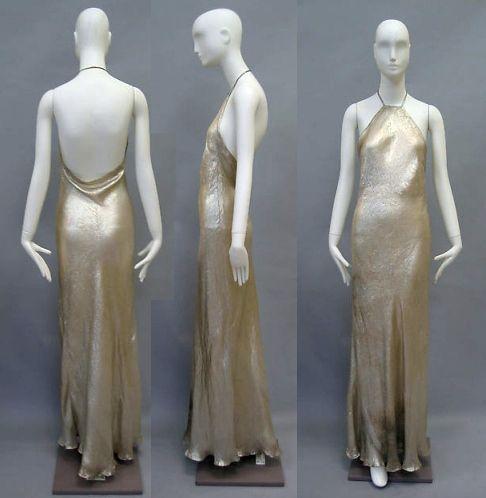 Robe de soirée Vionnet, 1936. Collection du Metropolitan Museum.