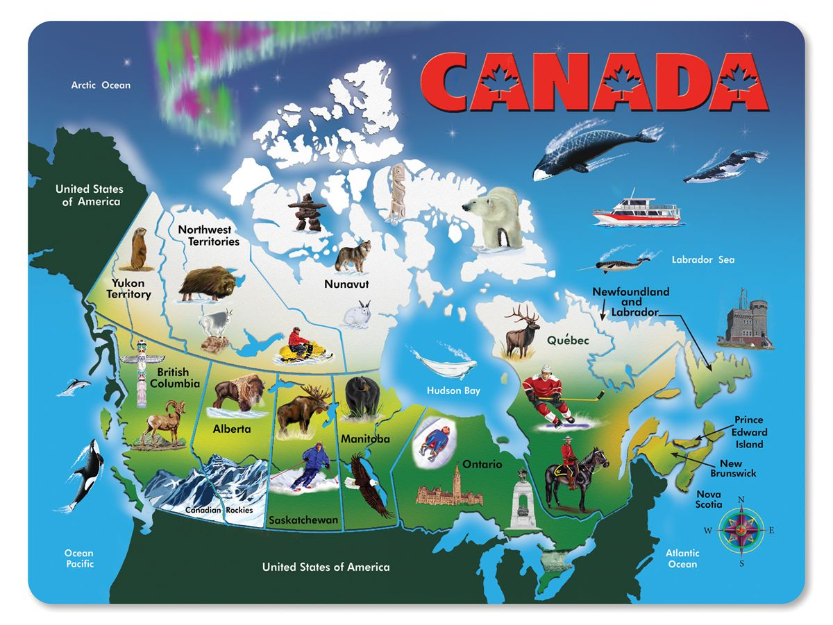 Wooden Canada Map Puzzle Oh, Canada in all its glory! In