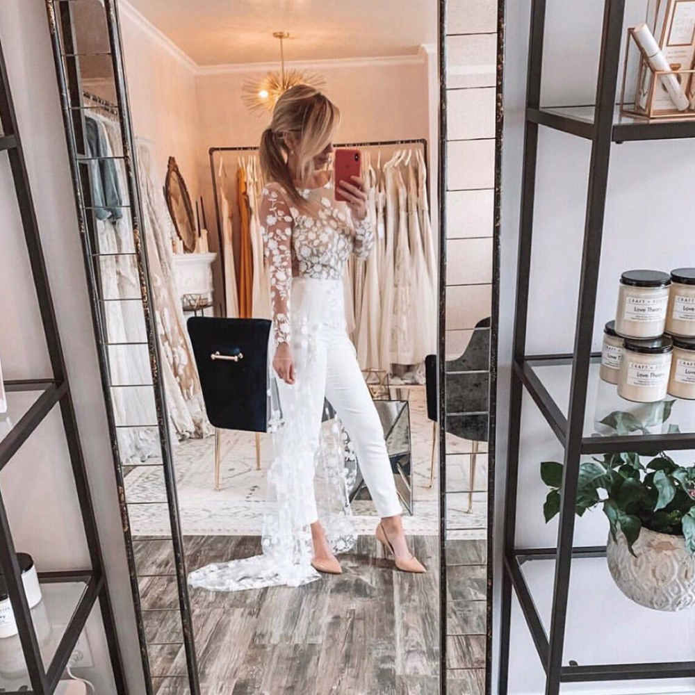 "LuxeBrideGuide on Instagram: ""This jumpsuit is so perfect for: an engagement party, bridal shower, rehearsal dinner, second look, or post wedding brunch! Jumpsuit: Patsy…"""
