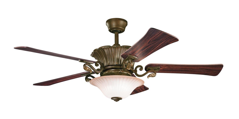 Kichler Rochelle Ii Kl 300207cz Airflow Rating 5776 Cfm Cubic Feet Per Minute Ceiling Fan Traditional Ceiling Fans Rustic Ceiling Fan