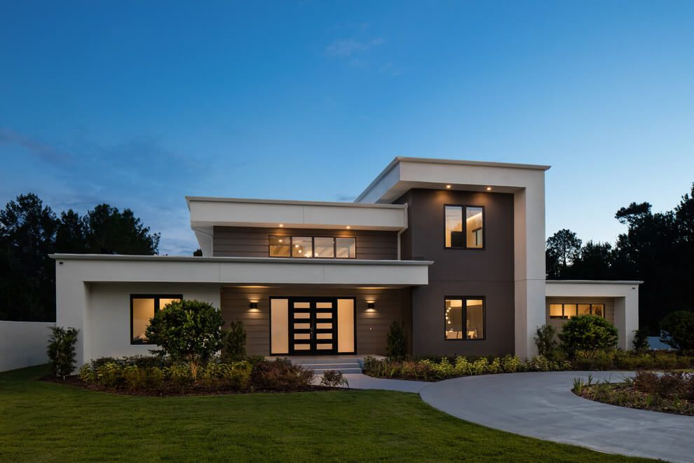 Contemporary two-storey house is situated in Orlando, Florida ...