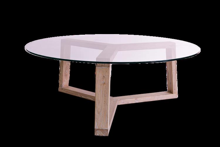 Mesa de centro sq2429b mesas de centro redondas madera - Mesas cristal redondas ...