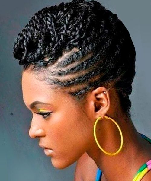 African American Braided Hairstyles Mesmerizing Chic Braided Natural Updo Hairstyle  Natural Black Hair Styles
