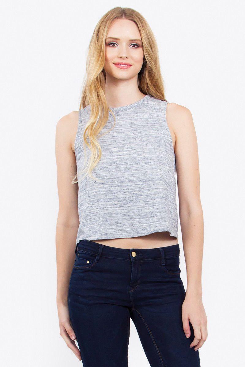 Women's Open Back Knit Top