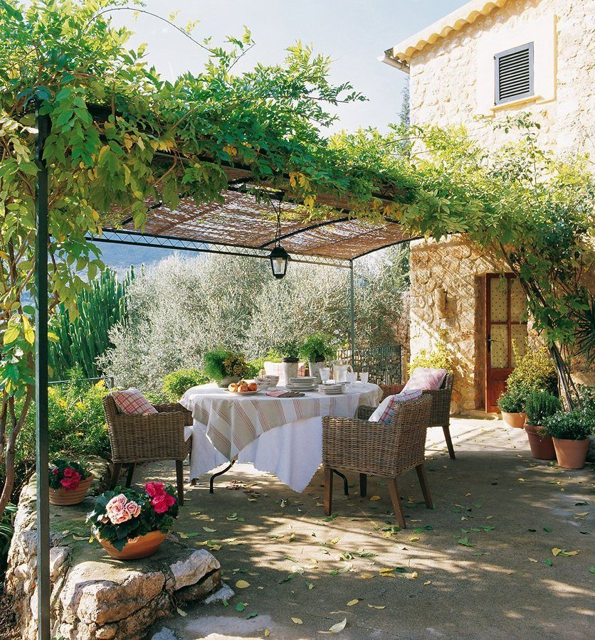 exterior de sua casa com flores e plantas pergola Pinterest - decoracion de terrazas con plantas