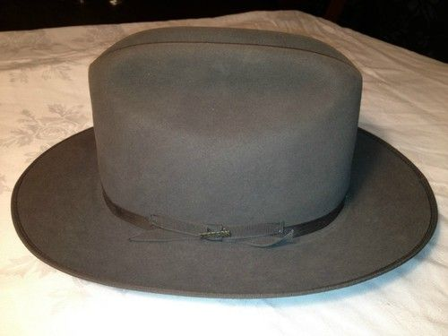 RARE Vintage Dark Grey Stetson Open Road Hat  3db6cff2550