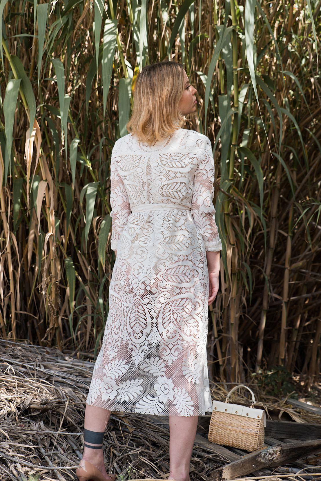 Simple wedding dresscreme wrap dress bohemian wedding dress white