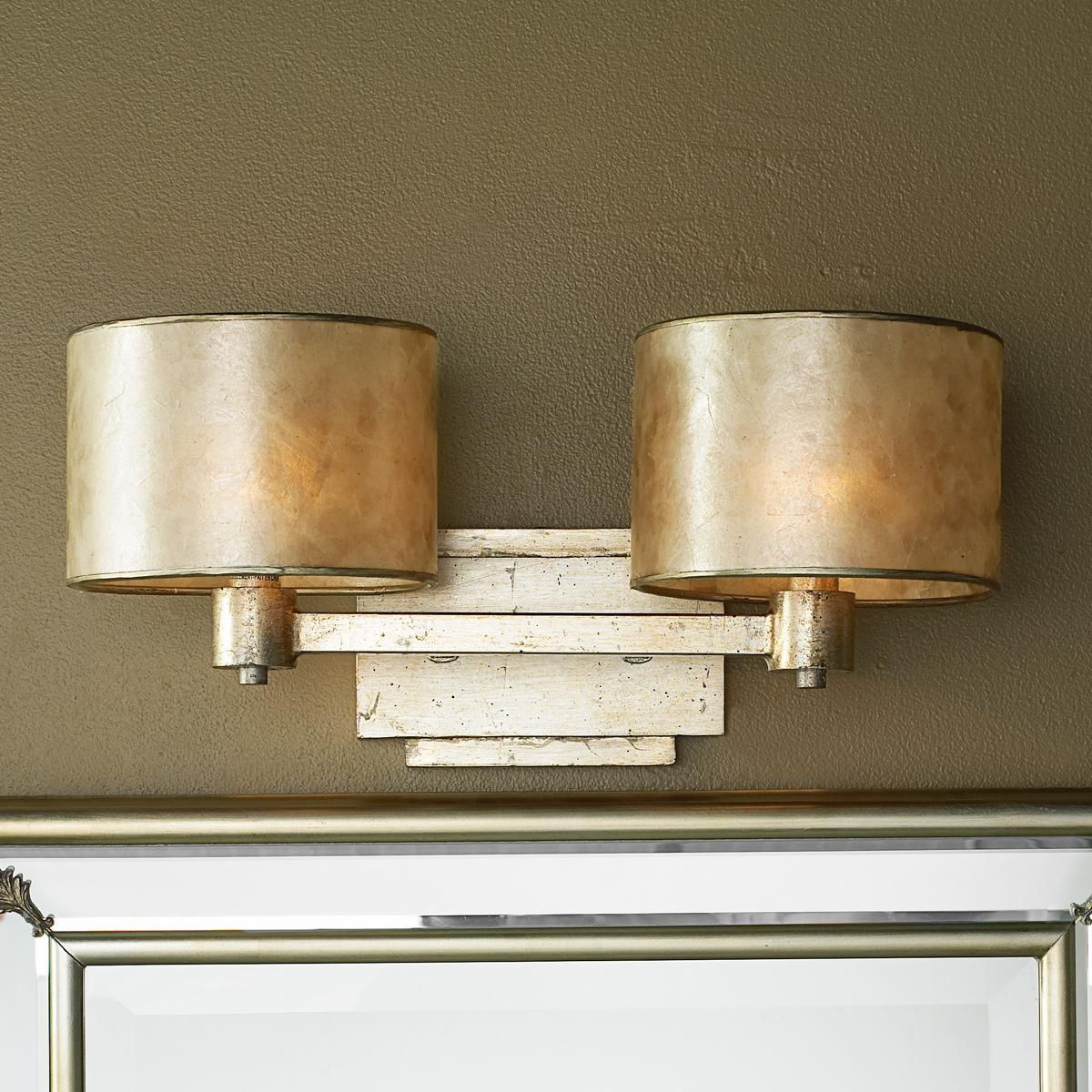 elegant bathroom lighting classic bathroom champagne elegance bath light round silver mica drum shades and squared lines softened with warm silvery gold finish dress an elegant bathroom in 2018 great looks for