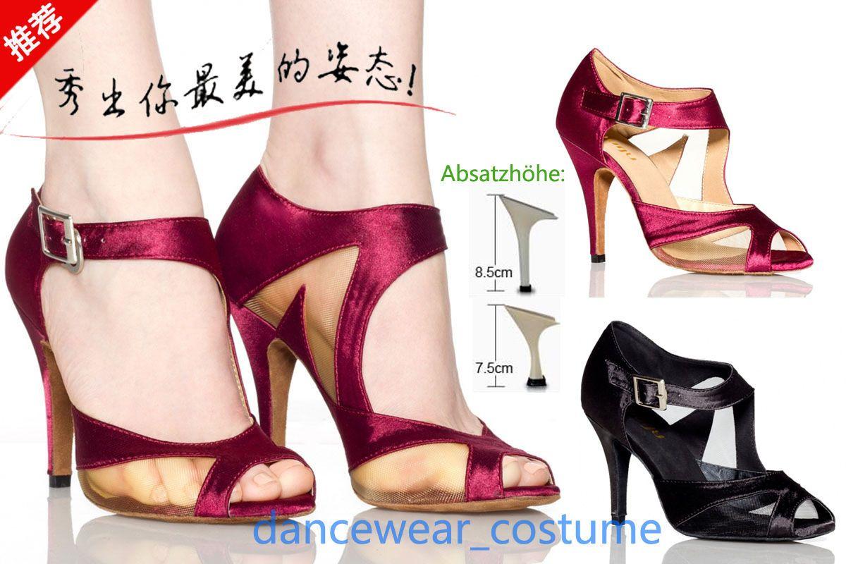 Women/'s Party Ballroom Samba Latin Tango Salsa Dance Shoes Heels Sandals EU34-42