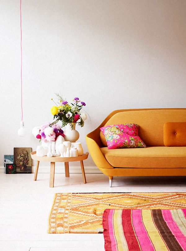 10 Best Pink And Yellow Living Room