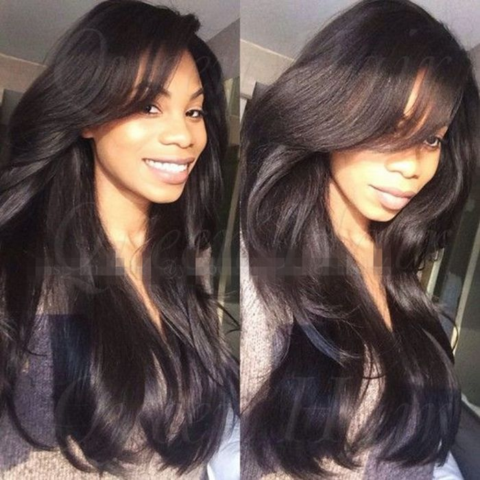 Top Quality Stock Cheap Virgin Lace Wig 24 Inch Natural Straight