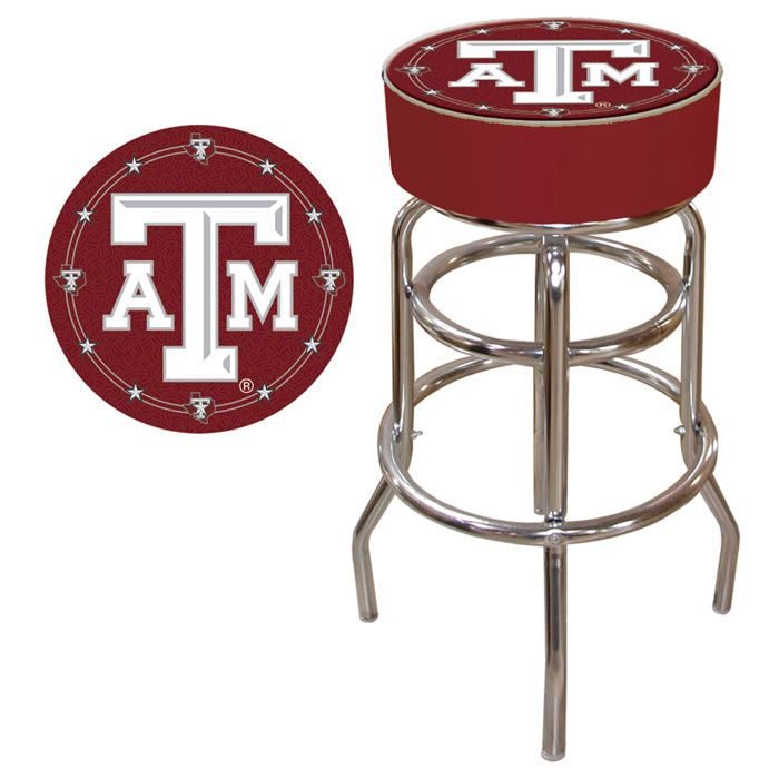 Texas A M University Padded Bar Stool With Images Swivel Bar