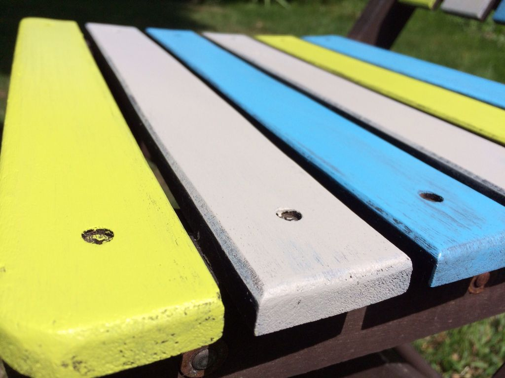 Relooking salon de jardin bleu vert taupe | Mobilier | Relooking ...