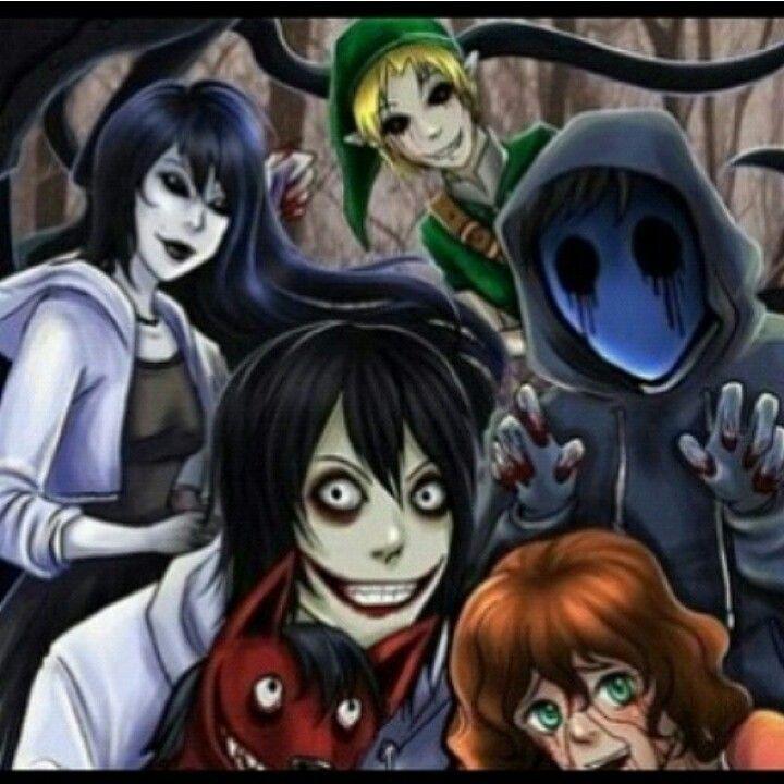 Smile Dog, Sally, Jeff the killer, Eyeless Jack, Jane the ...