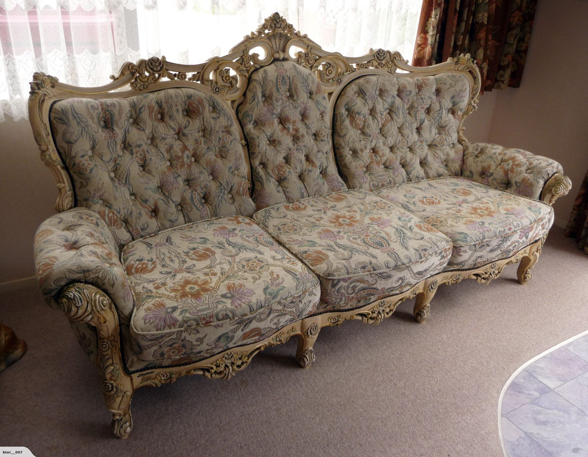Italian Rococo Lounge Suite - 5 piece including tables   Trade Me ...