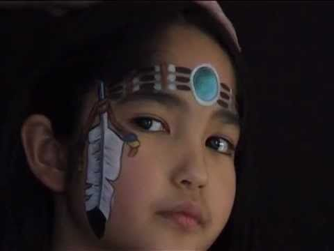 indianerin kinderschminken vorlage eine indianerin schminken video anleitung schminken. Black Bedroom Furniture Sets. Home Design Ideas