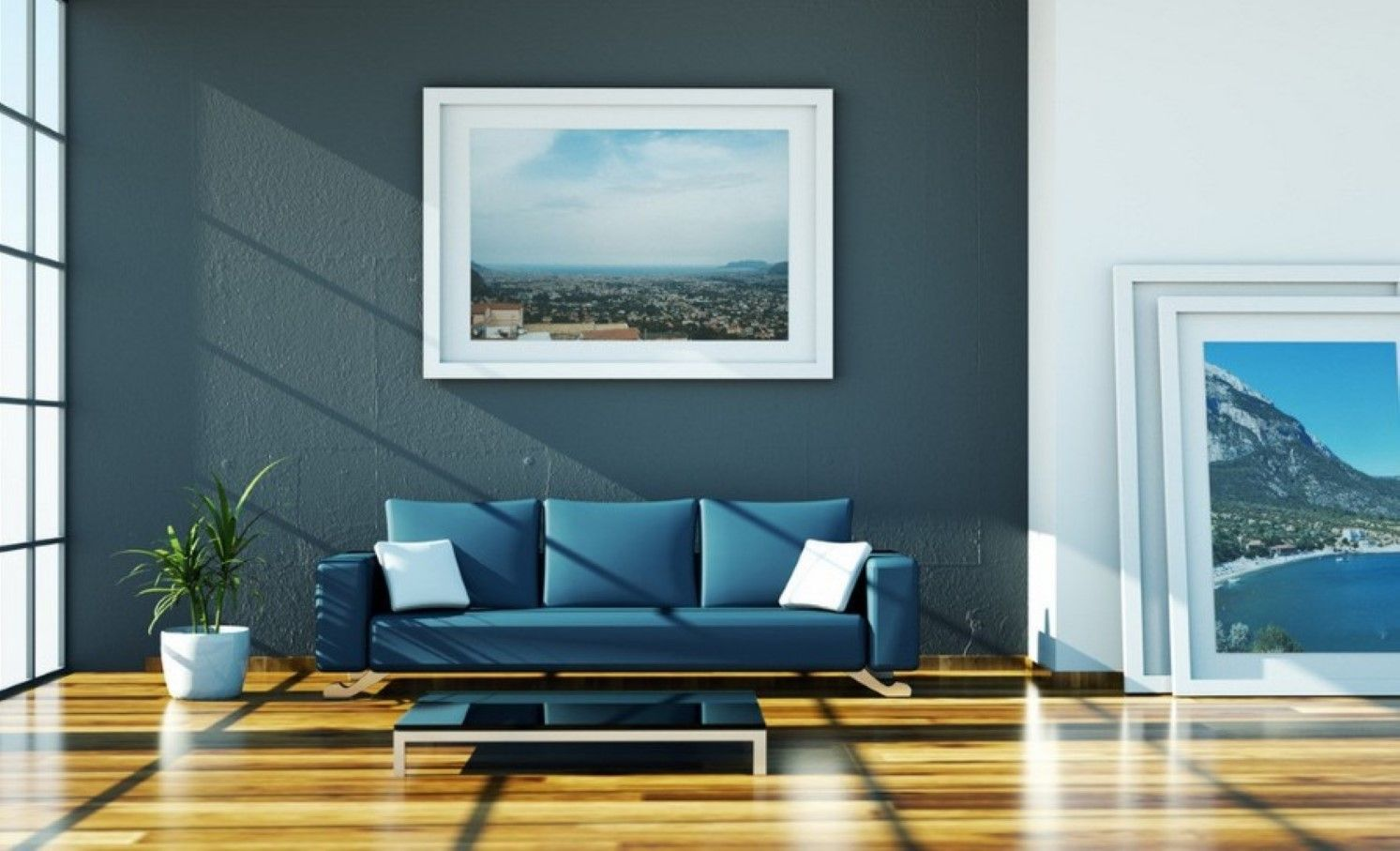 Blue living room - 35 shades of blue   Hawk Haven   granada house in ...