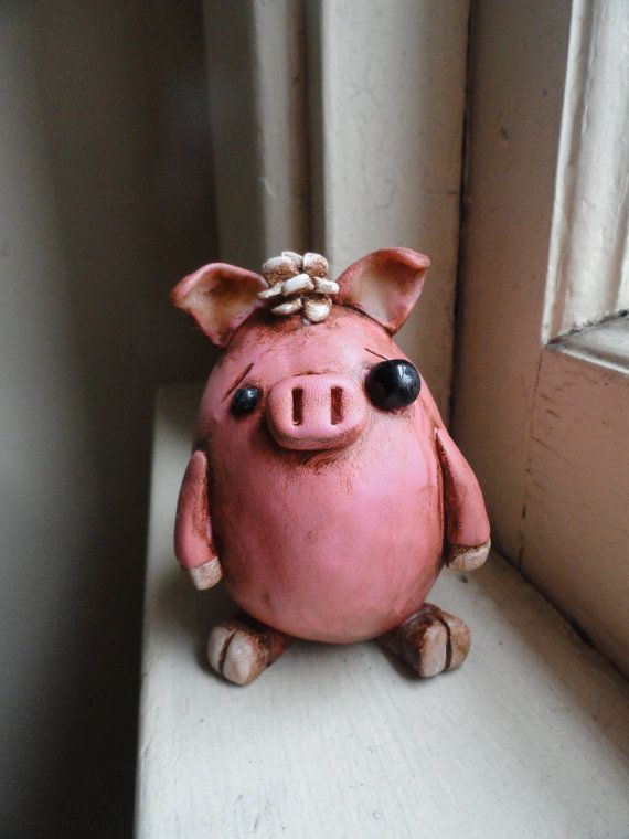 Muddy Pig Eggling  Made To Order by TheGrayCafe on Etsy, $20.00