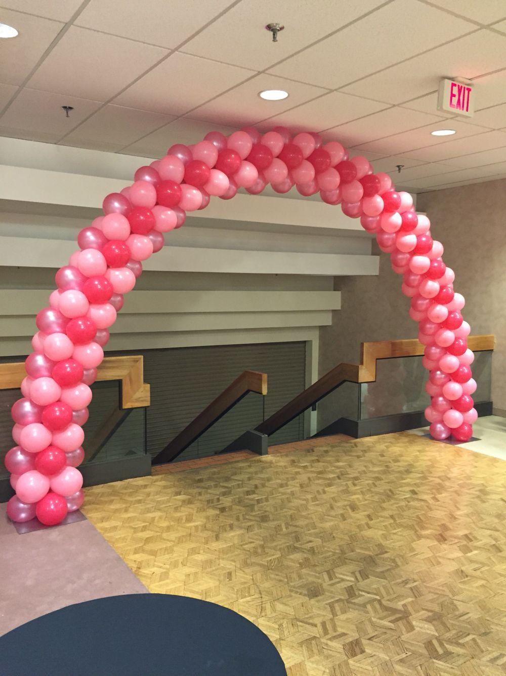 Large pink balloon arch balloon balloondecor balloonarch
