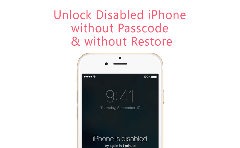 How To Unlock The Disabled Iphone Without Restore When You Forgot Iphone Passcode Unlock Iphone Unlock Iphone