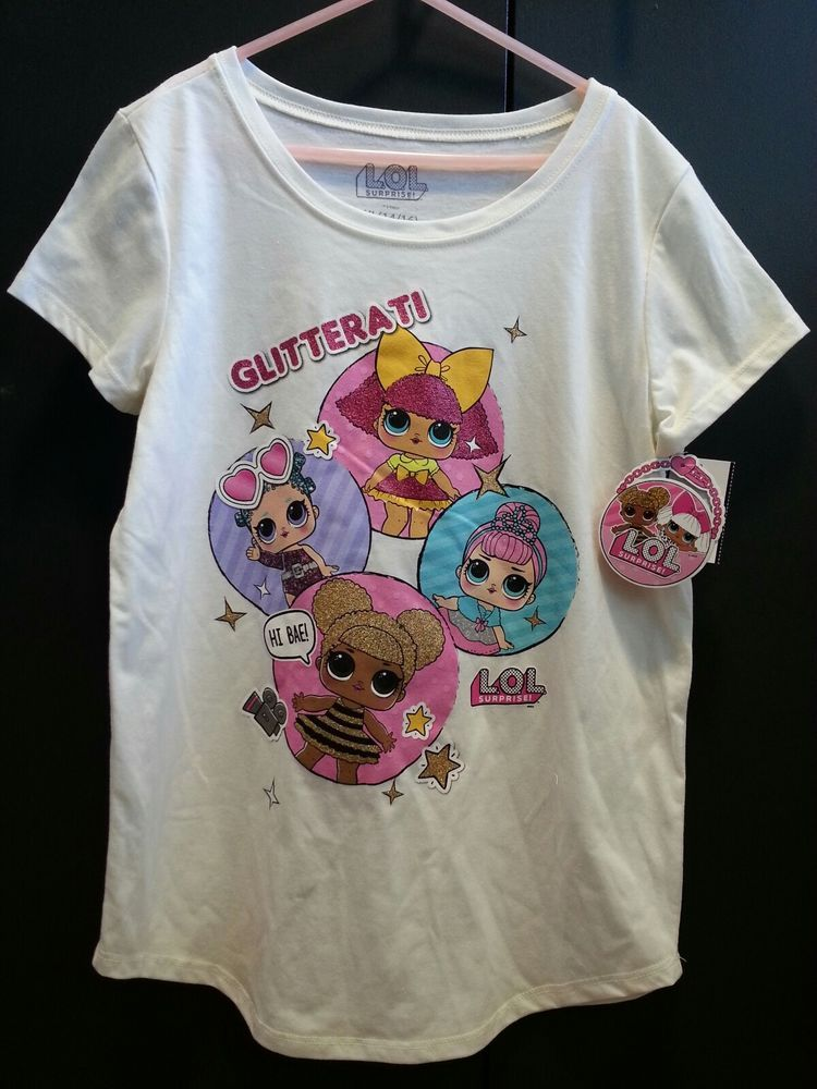 2a9e2a10f LOL Surprise Doll Glitterati Girls Short Sleeve T-Shirt XL Size 14/16 New |  Clothing, Shoes & Accessories, Kids' Clothing, Shoes & Accs, Girls' Clothing  ...