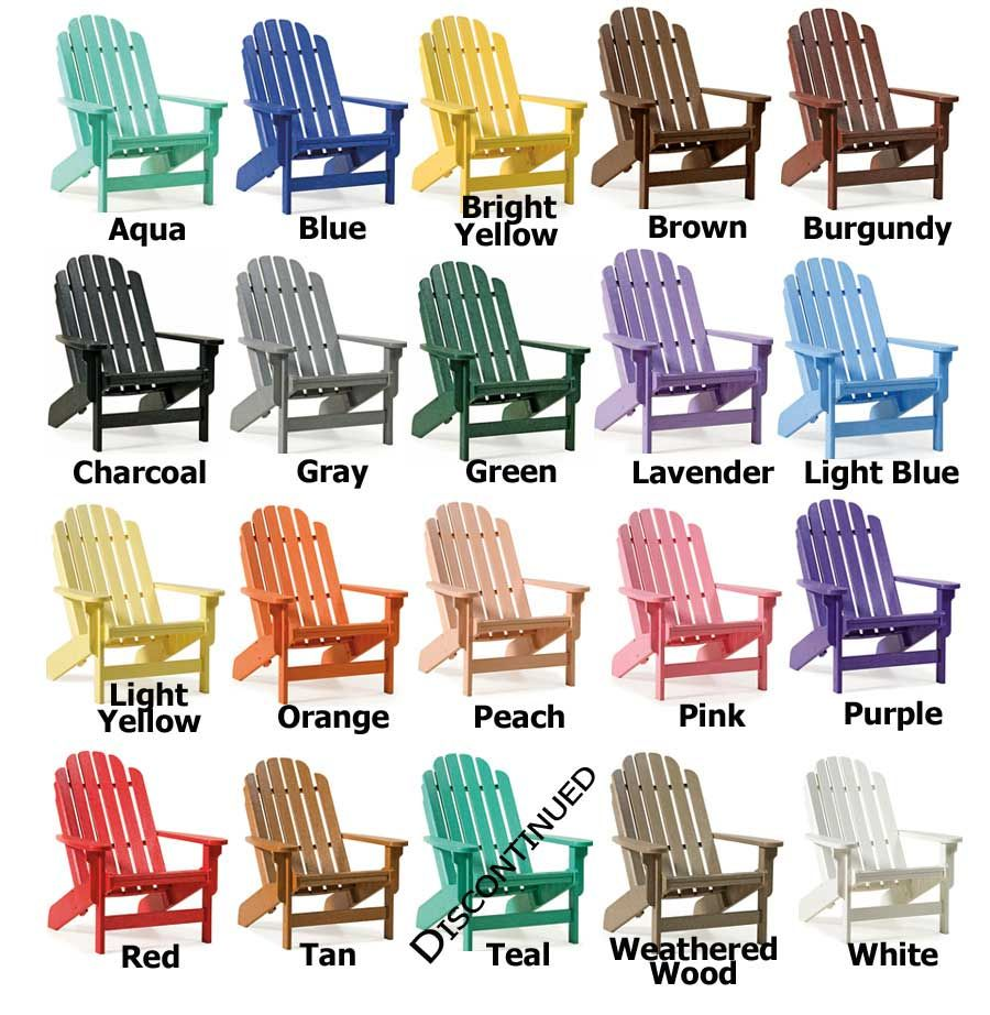 Love These Colors For Outdoor Chairs