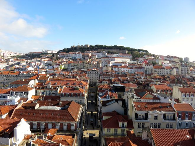 Lisbon Portugal - View from the top of the Sunta Justa Lift
