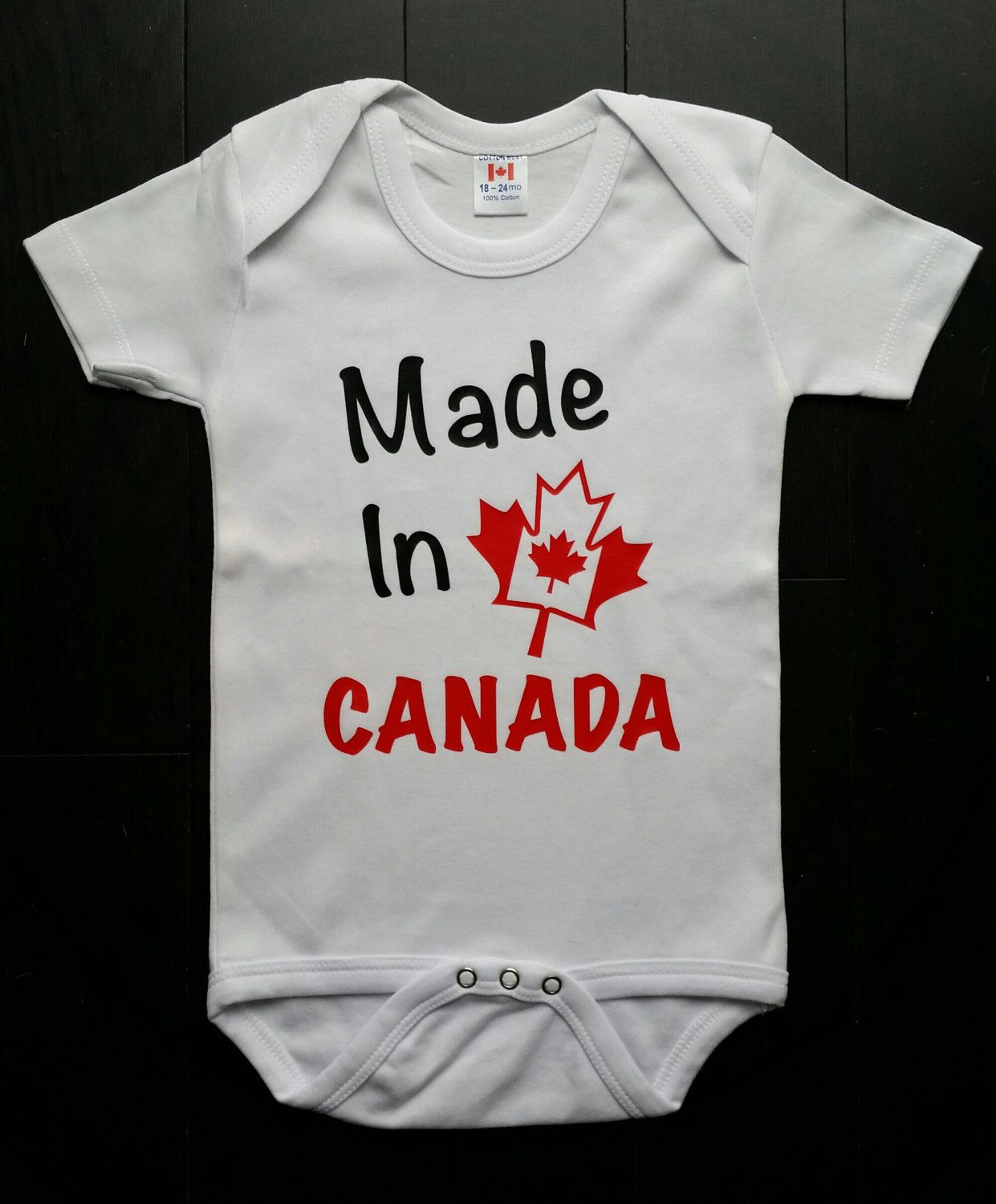 Made In Canada Newborn Unisex Baby Bodysuit Canadian Flag Baby Shower Gift Kids Online Clothing Stores Unisex Baby Kids Outfits