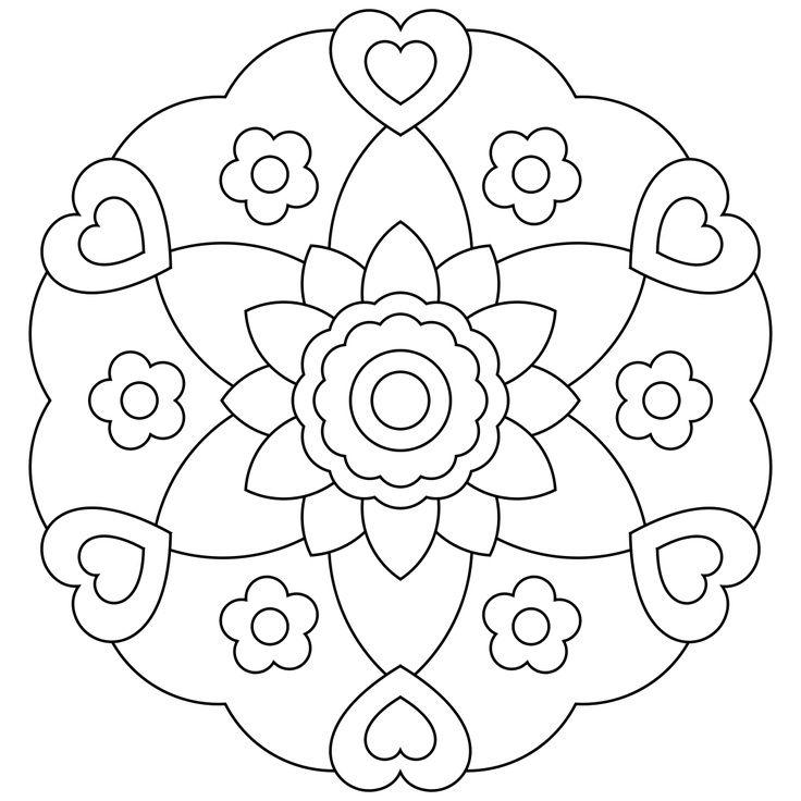 dibujos de mandalas de flores para imprimir … | dibujos para pintar ...
