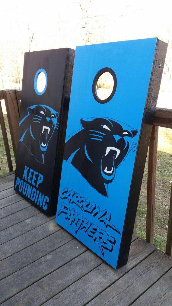 Carolina Panthers Cornhole Board Set By Countrycornholes On Etsy