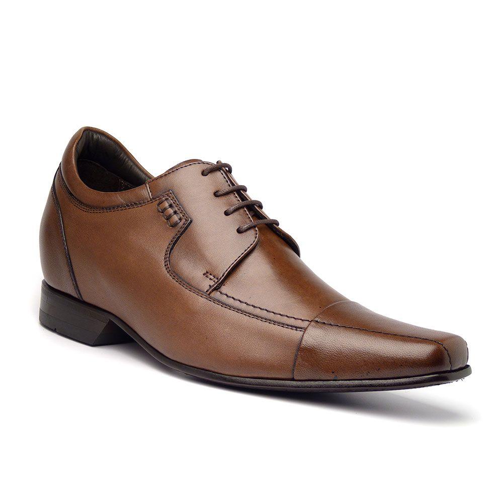 906c92fd4 Sapato Esporte Fino Maggiore Masculino em Couro MSV Fino e com elevação de  7 centimetros é