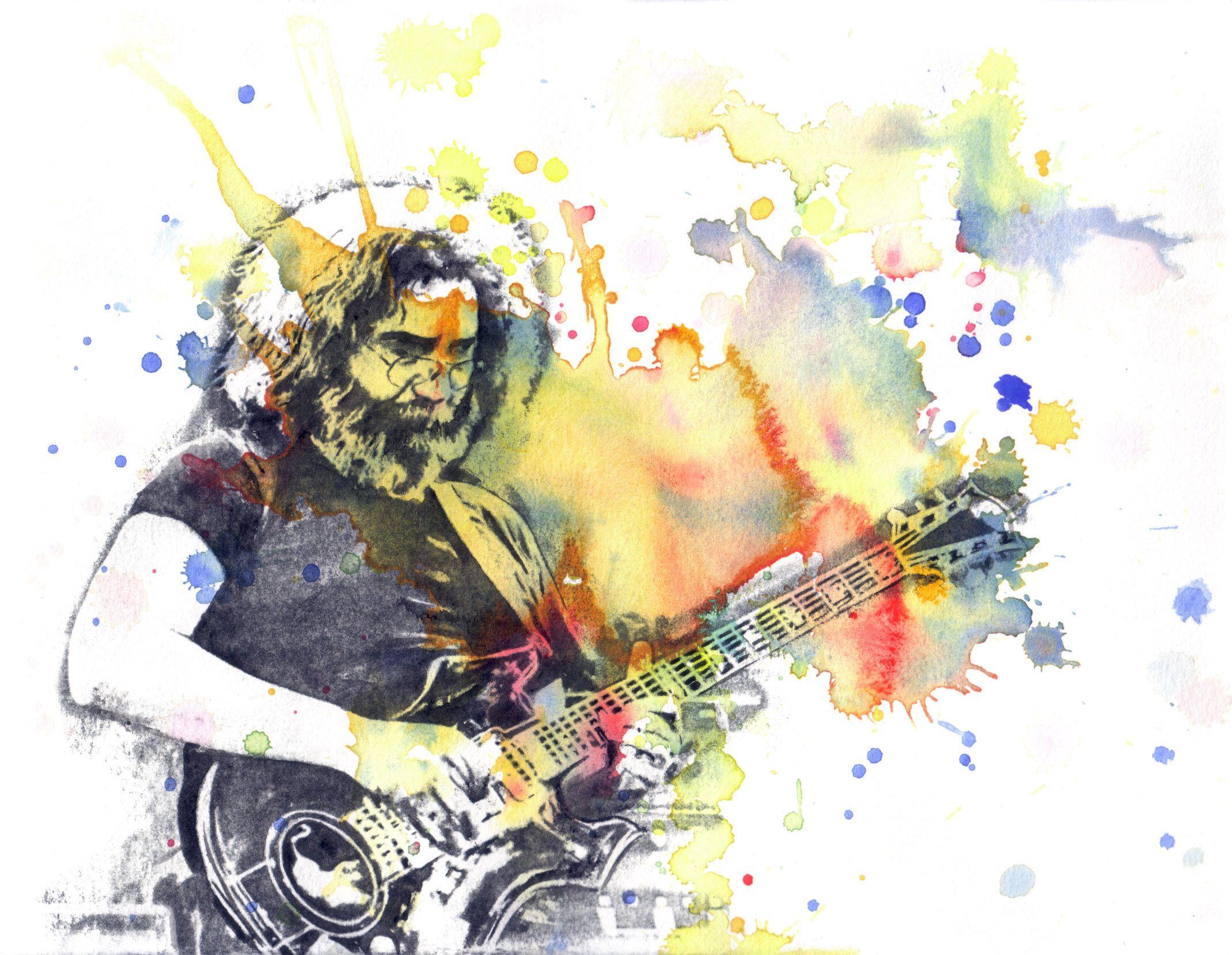 Grateful Dead Poster Print Jerry Garcia Art Poster from Original ...