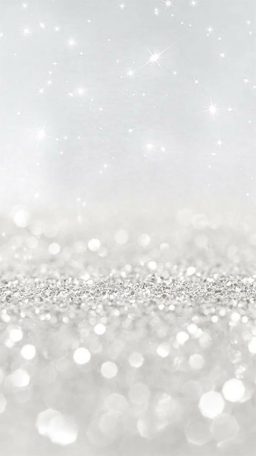 White glitter wallpaper, Glitter phone ...