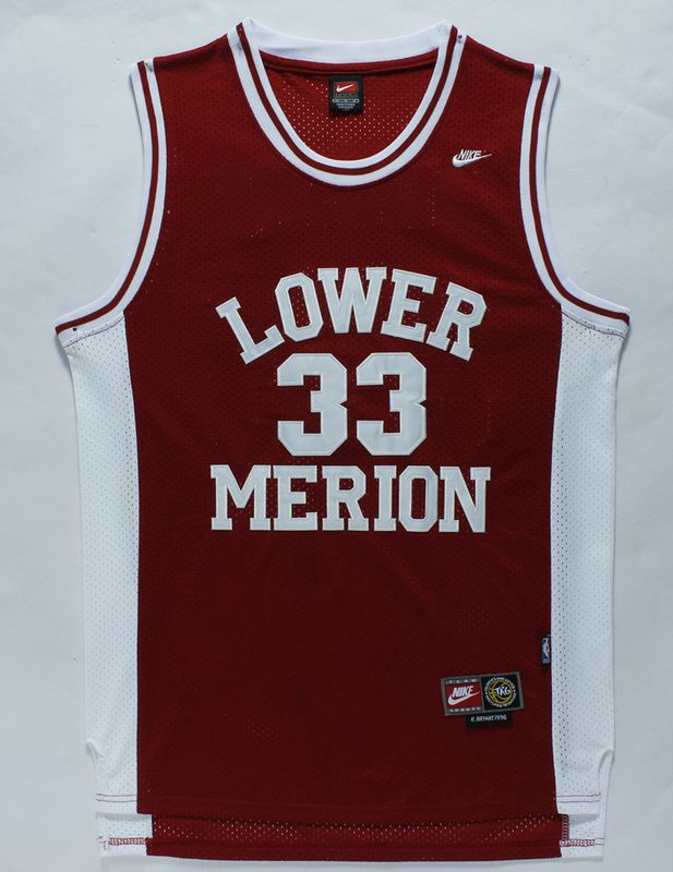 new arrival 136cb c10e6 Los Angeles Lakers 33 Kobe Bryant Red Lower Merion High ...