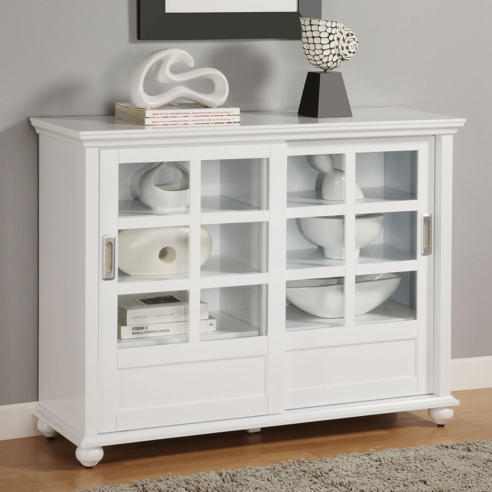 Horizontal Bookcase With Doors Best Paint For Wood Furniture