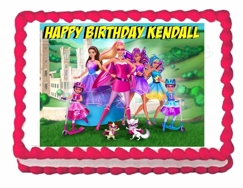 Edible Cake Images Barbie : BARBIE in Princess Power party edible cake image cake ...