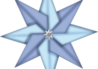 Origami Blue Christmas Star Clipart Clip Art Star Pictures Free Clip Art