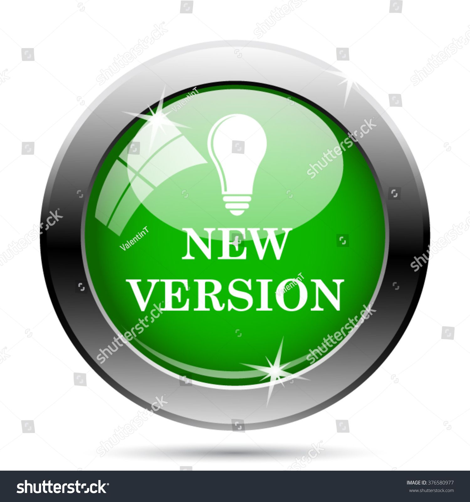 New version icon. button on white background