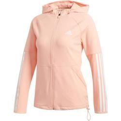 Photo of Adidas Damen Sweatjacke 3S Full Zip Knit Hoodie, Größe M in Glopnk, Größe M in Glopnk adidas