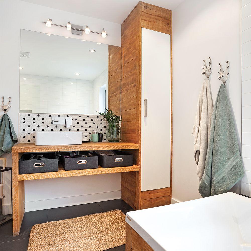 Salle de bain rustique scandinave | Styles de décoration en ...