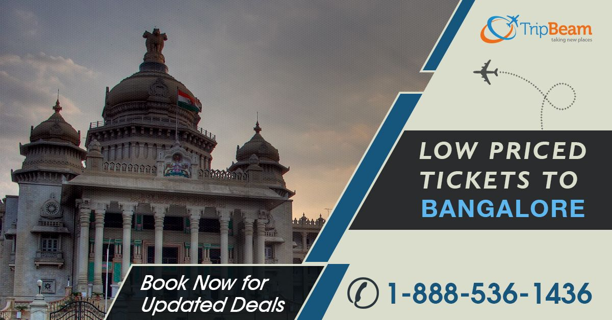 Book flight tickets to #Bangalore at #Tripbeam. There are plenty of tourist must-visit attractions in Bangalore. Compare prices, timing and get the best #deals on flight booking. Hurry, get today's best travel deals!  For more information: Contact us at: 1-888-536-1436 (Toll-Free), info@tripbeam.ca.  #FlightstoBangalore #Airfare #discount #Attractions  #CheapFlights #CanadatoIndiaflightdeals #cheapairtickets #Traveldestinations  #CanadatoIndia