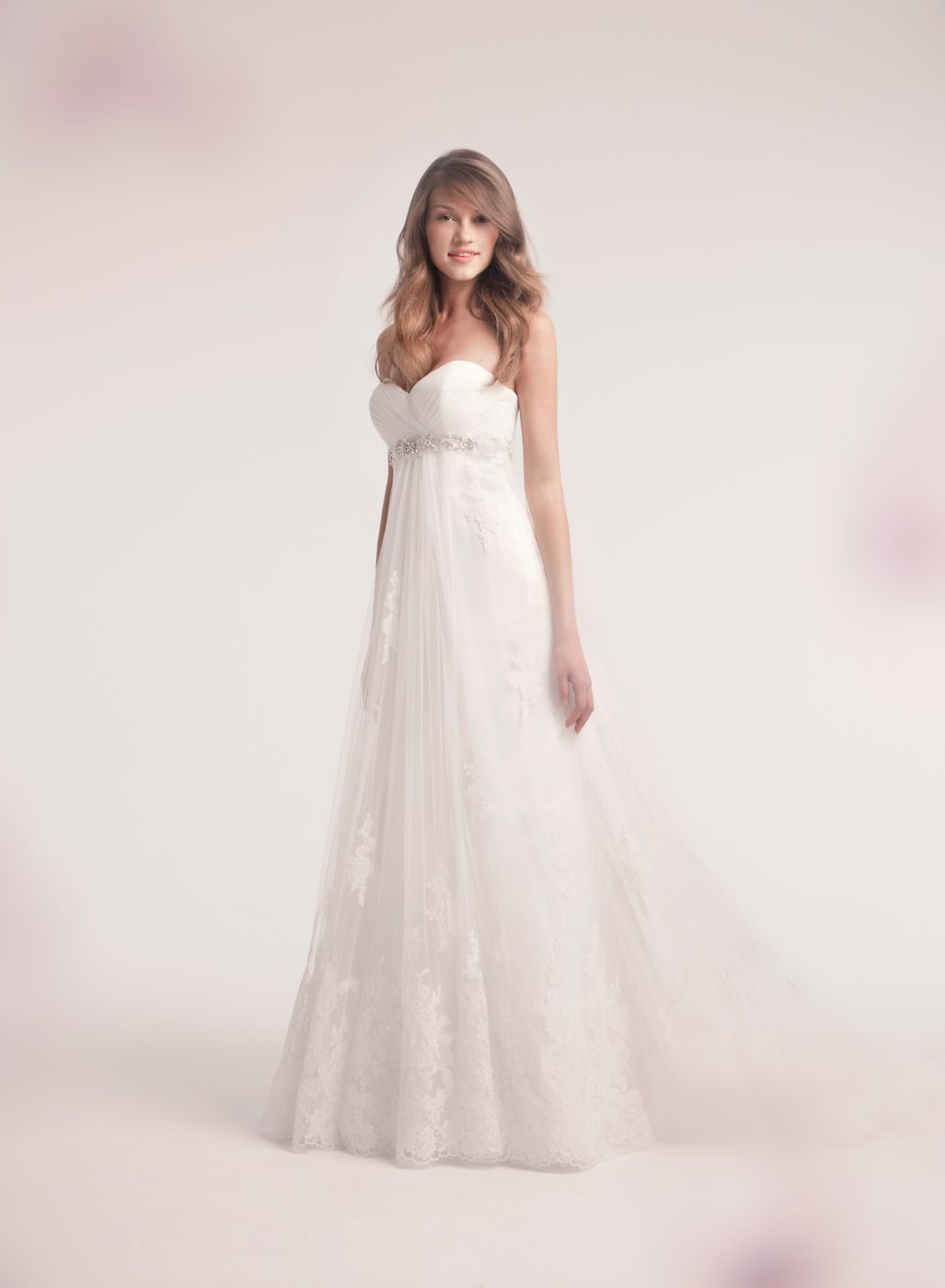 Alita graham aline wedding dress with sweetheart neckline and
