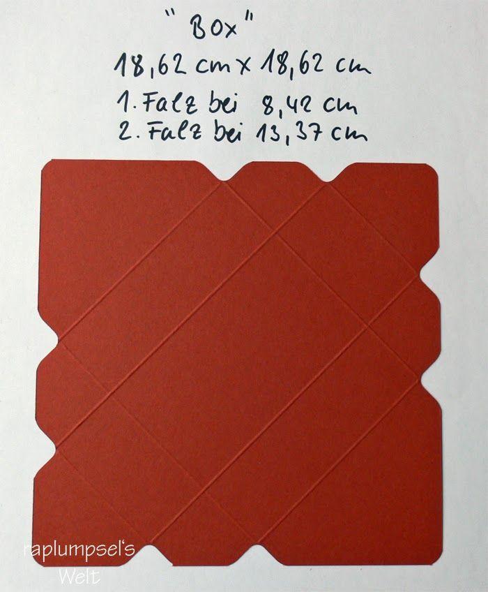 Geschenkbox basteln  gefunden bei http://raplumpsel.blogspot.de/