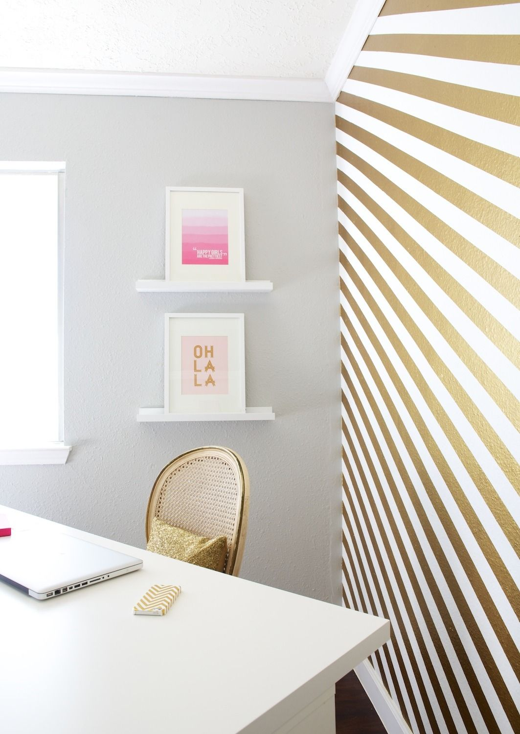 Shalyn s paint it gold workspace bedrooms black - White and gold room decor ...