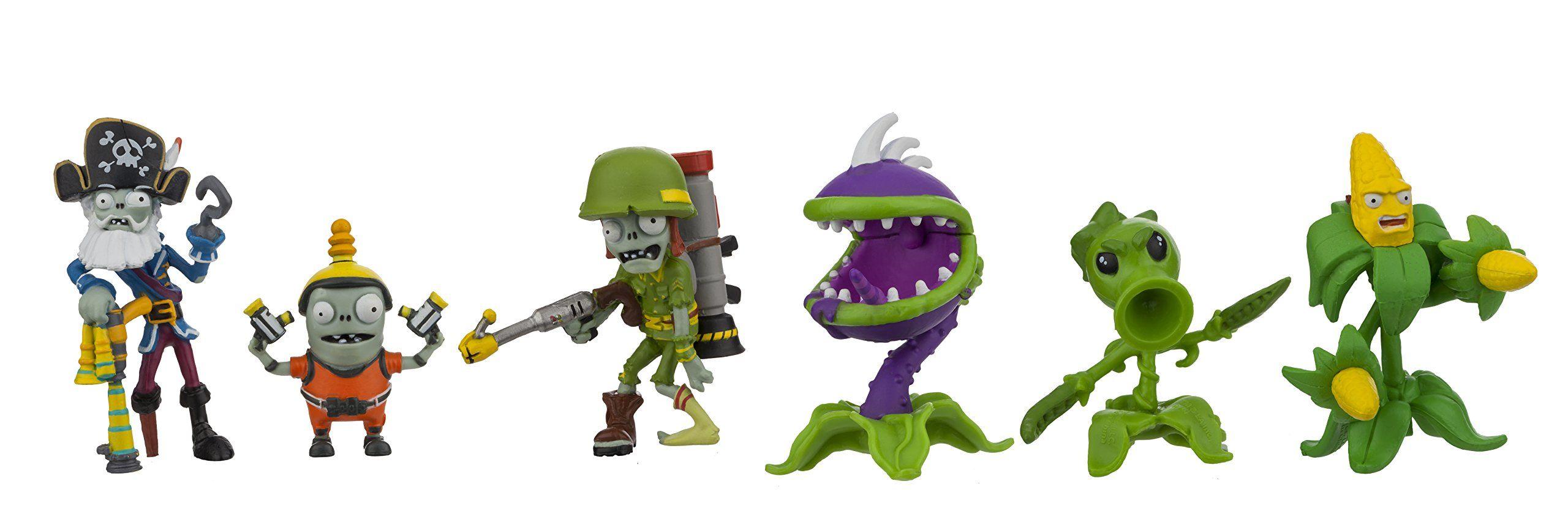 Plants vs  Zombies GW2 Action Figure (6 Pack), 2