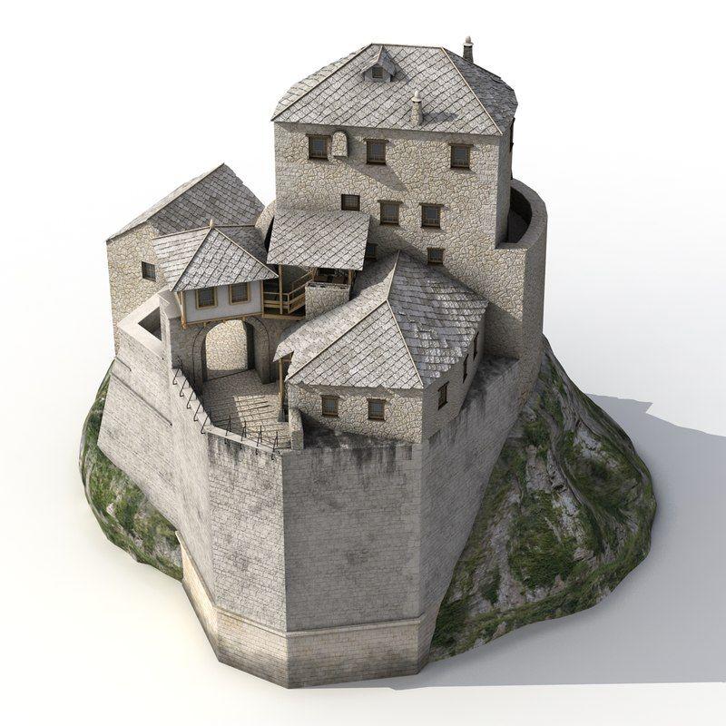 old castle hill 3d model