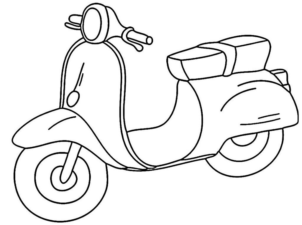 Vespa Cartoon Coloring Sheet For Kids Coloring Sheets For Kids Coloring Sheets Coloring Pages