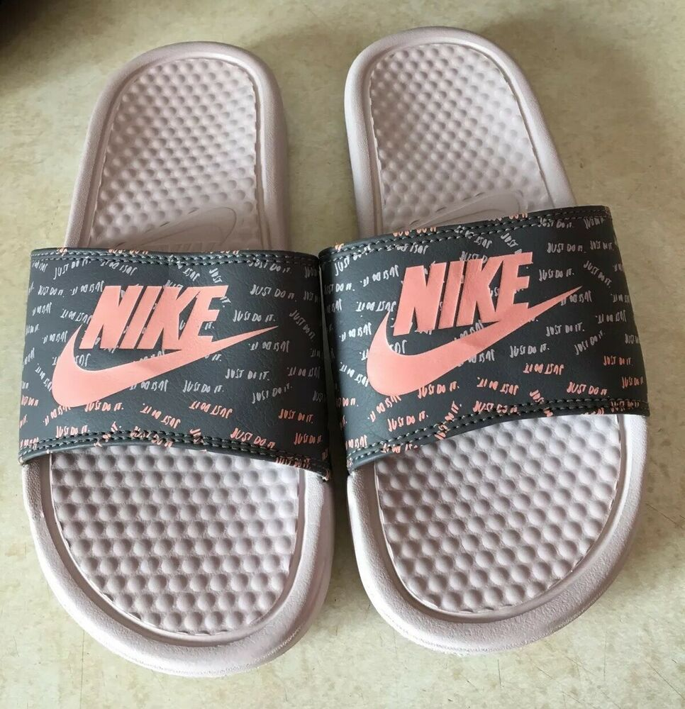 a275700e041fef Nike Women's Benassi JDI Slide Sandals Women's Size 6 618919-605 Peach Gray  #fashion #clothing #shoes #accessories #womensshoes #sandals (ebay link)