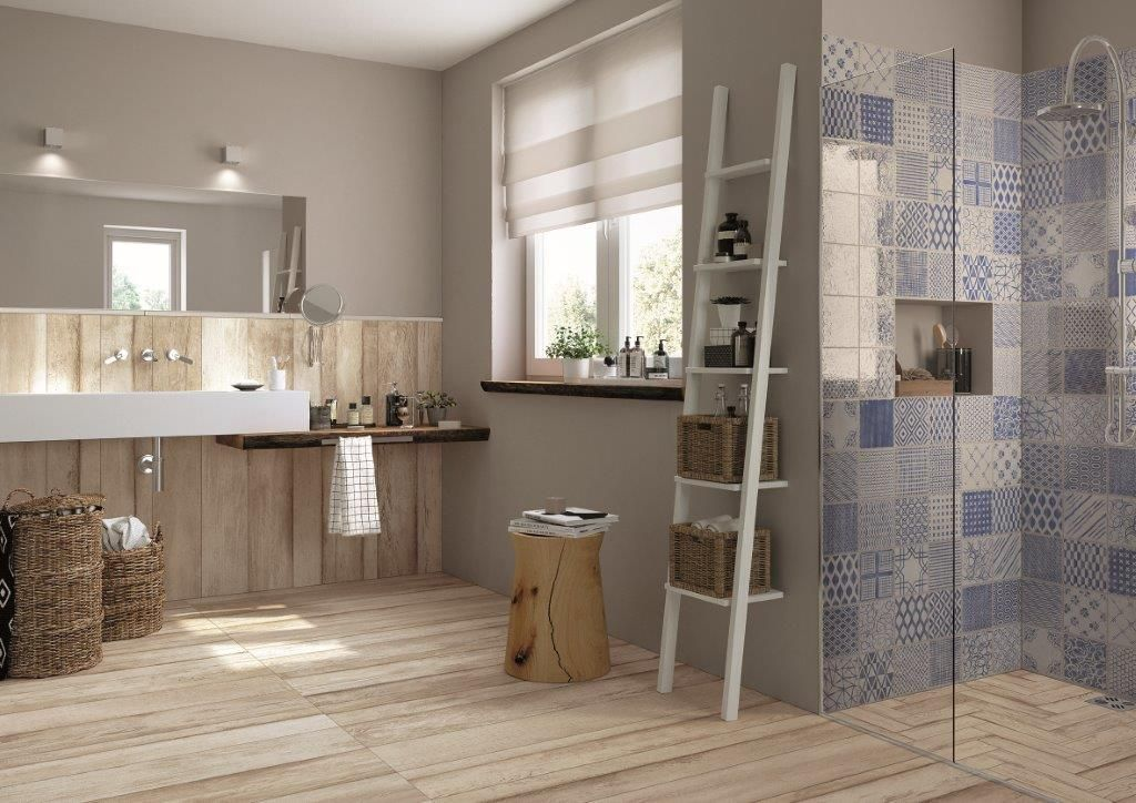 Badkamer Lichte Tegels : Mooie neutrale lichte #houtlook #tegel van #mirage. mooi in deze