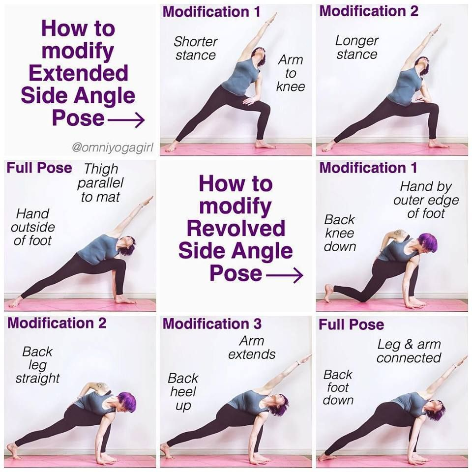 How To Modify Extended Side Angle Pose Yoga One Of The 12 Yoga Poses Vs Osteoporosis Maintain Better Bone Health Wi Side Angle Pose Yoga Help How To Do Yoga